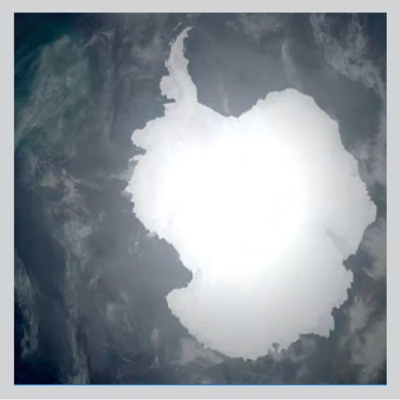 Melting glaciers in Antarctica