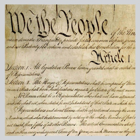 copy of the Constitution of the USA