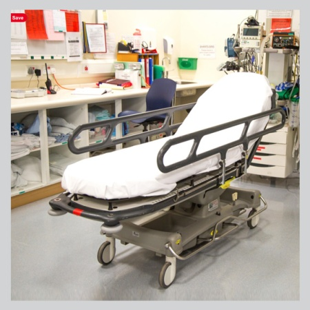 Portable bed in emergency room
