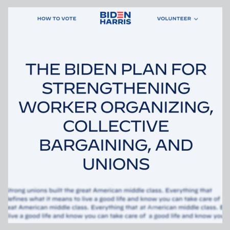 biden-harris website intro of platform on labor