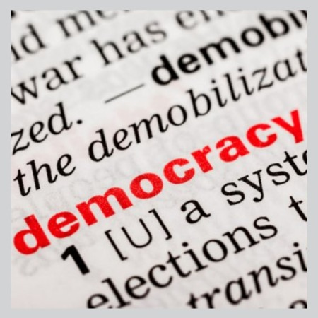 graphic depiction of definition of democracy